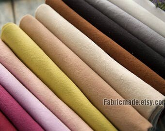 16 colors Pre Washed Cotton Fabric, Soft Solid Cotton Fabric In White Grey Lilac Beige - 1/2 yard