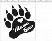 Mama Bear Paw Decal