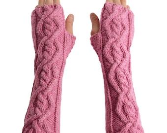 Georgeus Angel Arm warmers From Pure Merino Yarn Texting Gloves Fingerless Gloves Fingerless Arm warmers Woollen Gloves