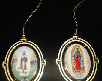 Our Lady of Fatima and Our Lady of Guadalupe ornament by Hector Garrido