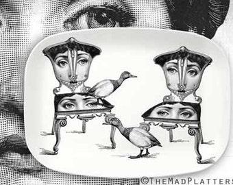 Geese Cavalieri melamine platter