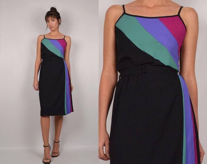 80's Colorblock Top & Skirt Set