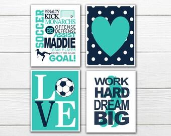 Ordinaire Soccer Wall Art Set   Girlu0027s Soccer   Soccer Love