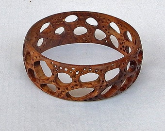 Wood Bracelet/Bangle with Spaces - A Very Spatial Bracelet