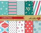 BLACK FRIDAY SALE Christmas Scrapbook Paper Pack Digital Background Patterns digital scrapbooking snow flakes pattern christmas decor star p