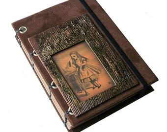 Alice in Wonderland Themed Journal/Sketchbook/Memory Keeper