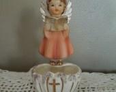 Vintage Artmark Angel Wall Pocket Figurine Holy Water