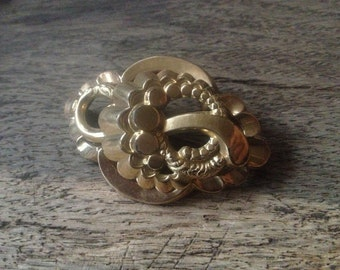 Antique Victorian Gold Plated Brooch Pin