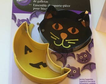 cat and moon cookie cutter set, 3-3 1/2 inch