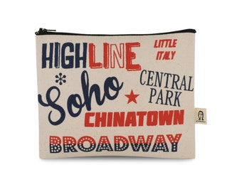 multi color new york pouch