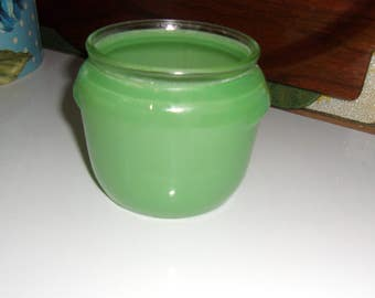 Vintage Walker's Honey Whip Jars Green
