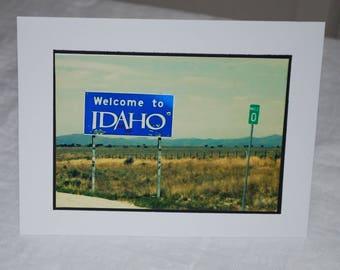 photo card, Welcome to Idaho Photograph