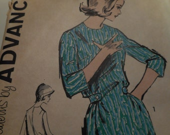 Vintage 1960's Advance 2794 Dress Sewing Pattern, Size 16 Bust 36