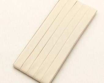 Cotton Candy Series Folded Cotton Bias in Light Beige - 3 Yards 92881