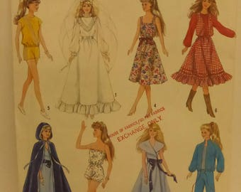 Vintage Simplicity Pattern 8333 Barbie Wardrobe