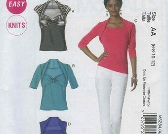 McCall's M6284 Easy Knits Size AA (6-8-10-12)