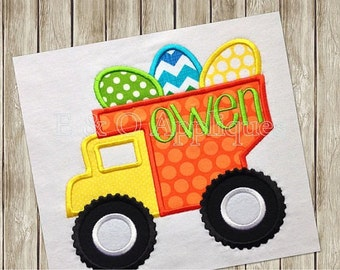 Easter shirts for boys, Dump Truck, Pickup Truck done for boys or girls.  can be done in any color and personalized for free