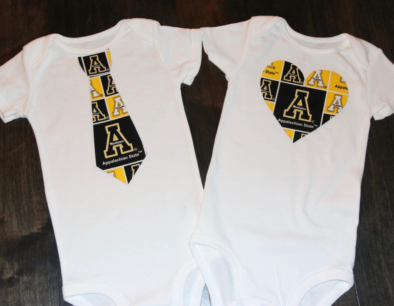 Appalachian State University Mountaineers Tie Onesie Or Shirt