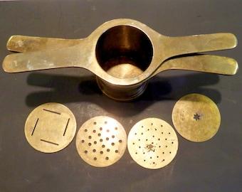Vintage Brass Pastry Press, BOHO Kitchen