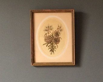 Pretty Gold Framed Floral Print