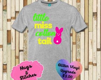 Little Miss Cotton Tail Easter Shirt