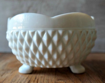 Vintage Indiana Milk Glass Footed Candy Bowl