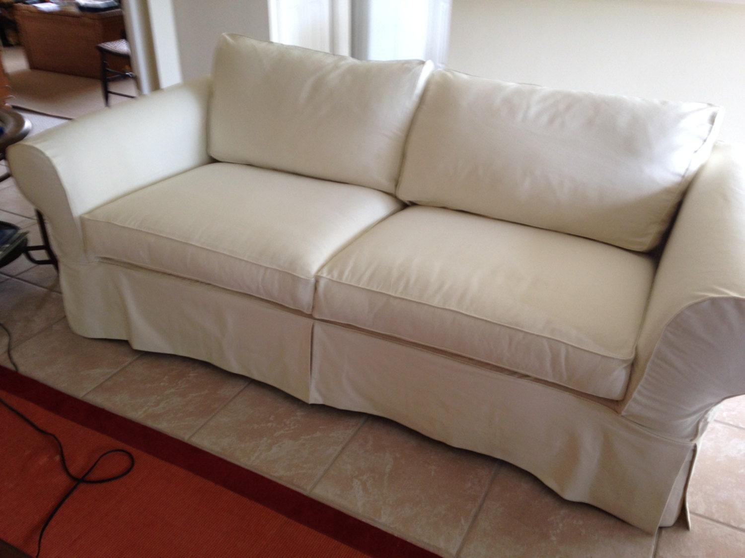 Custom Sofa Slipcover With Seat Back Cushions Over 61