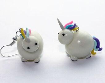 Unicorns Earrings Glow in the dark