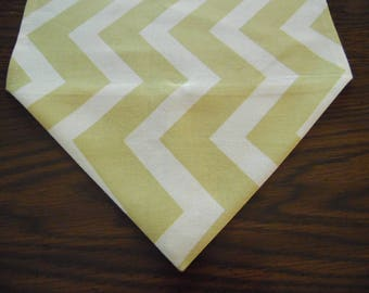 Zagami Sunshine Table Runner, Chevron Dresser Scarf, Wedding Party Decor, Wedding Shower Table Runner, Table Linen