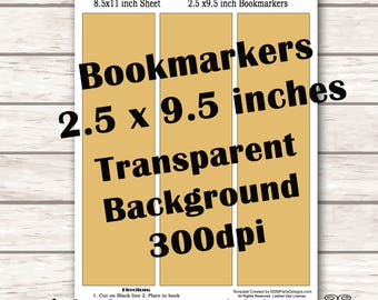 create your own bookmark template - x files bookmark etsy