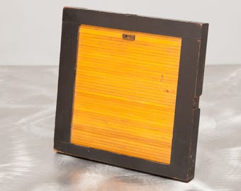 Vintage Wood 1870's Wet Plate Film Holder - Very Rare Type with Roll Up Dark Slide - For 5x7 Size Plates