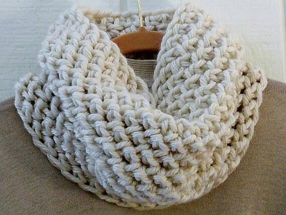 Crochet Cowl Pattern Chunky Herringbone Cowl Diy Circle Scarf