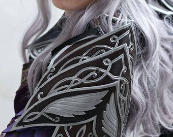 Elf Leather shoulder armor,fantasy,larp,larping,larper,larps,armor,armour,costume,lotr,elven,elves,fantastique,cosplay,cuir,armure