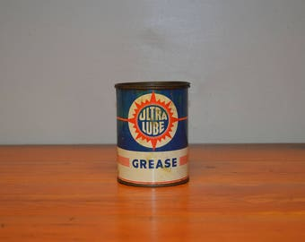 Vintage Ultra Lube Grease can, petroliana