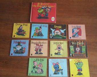 Bugg Books by Stephen Cosgrove illustrated by Charles Reasoner 11 paperback books and one hardback Topsy Turvy Book
