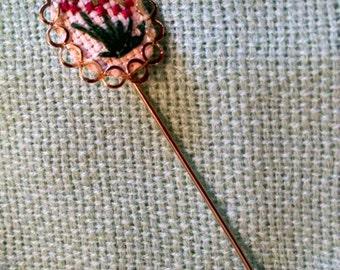 Cross-Stitch Stick Pin