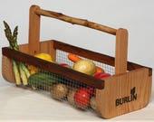 Father's Day Gift,Garden Basket-Garden Harvesting Basket (BURLIN)- Vegetable Basket, Hod,Picnic Basket, Storage Basket, Medium Size