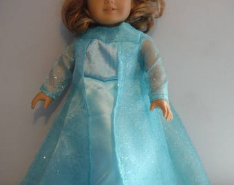 18 inch doll Elsa from the movie frozen long gown and tiara for your 18 inch doll by Project Funway on Etsy