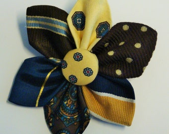 Upcycled Necktie Pin