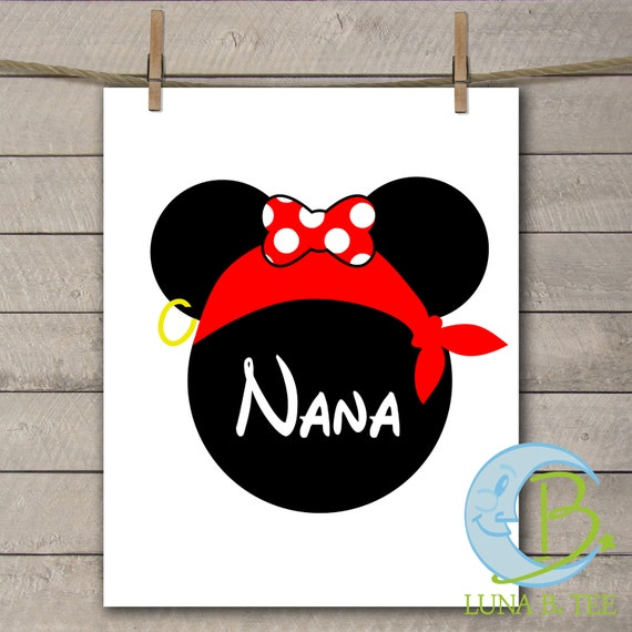 INSTANT DOWNLOAD Disney Family Vacation Cruise Pirate Night Grammy Nana Grandma Shirts Digital Printable DIY Iron On to Tee T-Shirt Transfer