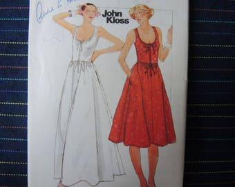 vintage 1970s Butterick sewing pattern Designer John Kloss 4810 misses dress size 10