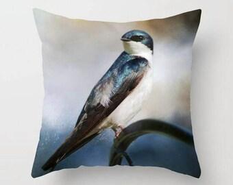 Tree Swallow, Throw Pillow, Decorative Pillow, Photo Throw Pillow, Bird Pillow, Nature, Photography, Fine Art Photography
