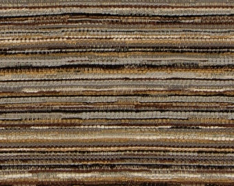 Dark Teal And Brown Scenic Upholstery Fabric Modern Linen