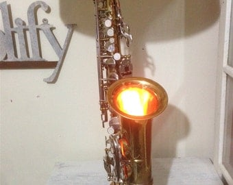 Alto Saxophone Lamp--REDUCED PRICE Double Wired so also a Night Light