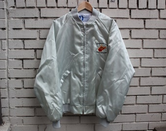 Vintage MOUNTAIN STATE Auto Auction Jacket West Virginia Dunbrooke tag made in usa truck automobile sale