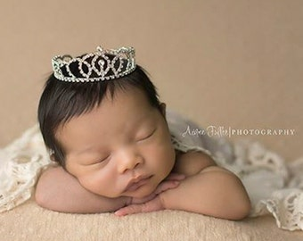 princess crown, nebworn Crown - Photo Prop | Tiara, newborn, crystal crown.  Bianca