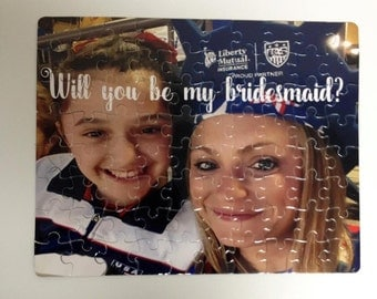 Bridesmaids Proposal Puzzle - Will you be my Bridesmaid Puzzle - Flower Girl Puzzle -  Personalized Bridesmaids  puzzle - Maid of Honor Gift
