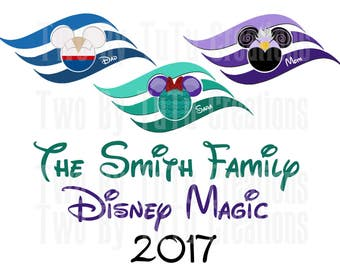 Disney Cruise Custom DIY Printable Image for Iron On Transfer or Door Magnet Disney- Digital Image!!