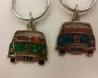 2 best buds key rings
