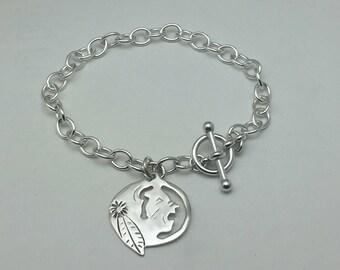 Sterling Silver Seminole Charm Bracelet